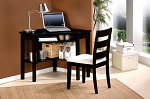 Black Finish Two Piece Desks