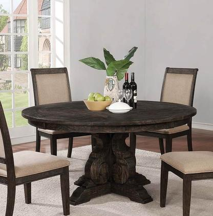 Whitney Black Round Dining Table Set