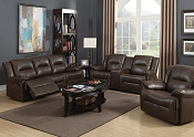 ROMULUS - Espresso Leather-Aire Match Motion Sofa