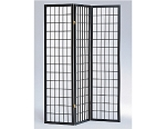3 Part Black Finish Panel Shoji Screen Room Divider