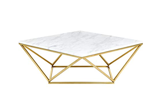Faux Carrera Marble Coffee Table