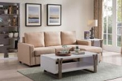 Tan Sectional with Ottoman