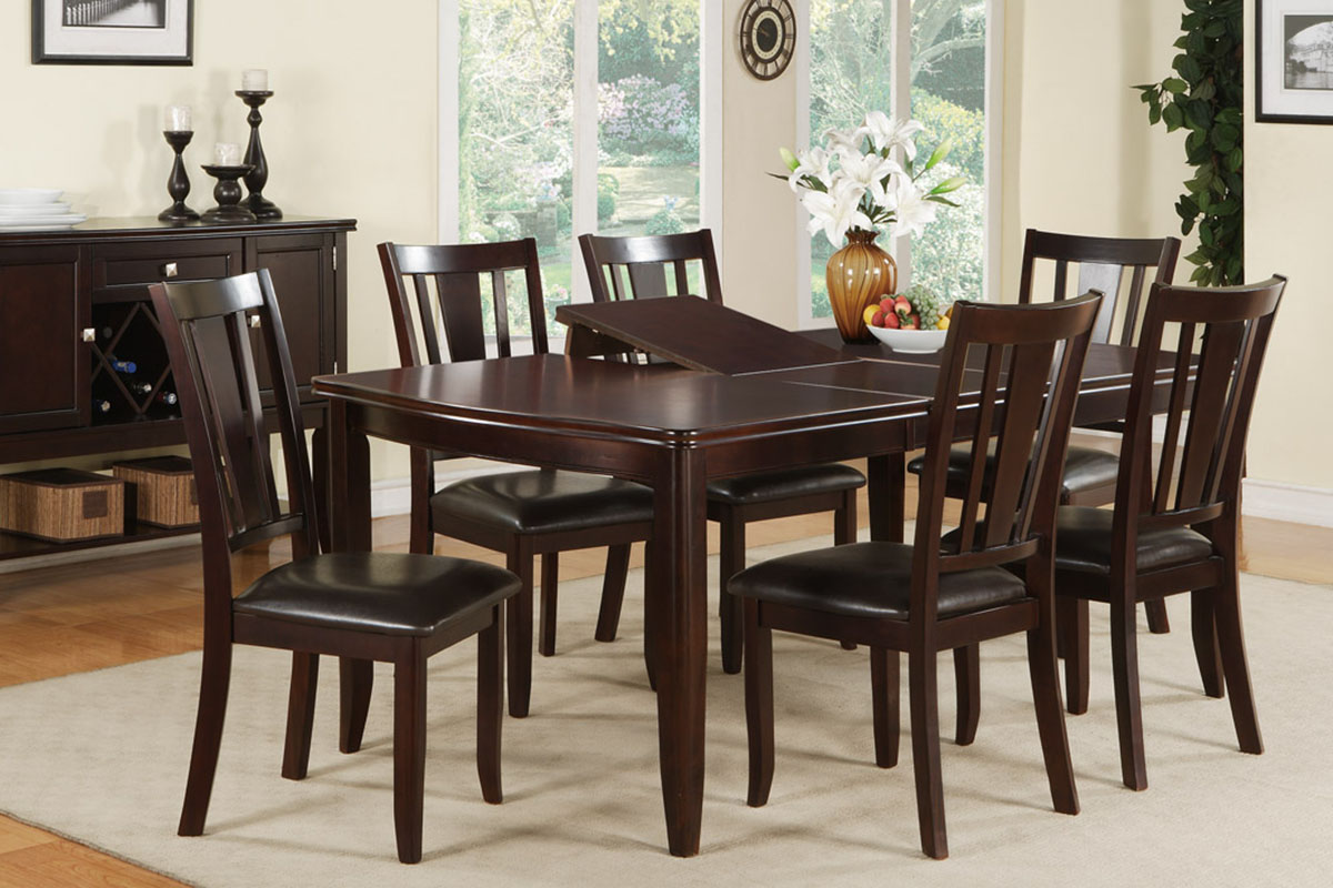 7 Piece Wooden Dinning Table Set