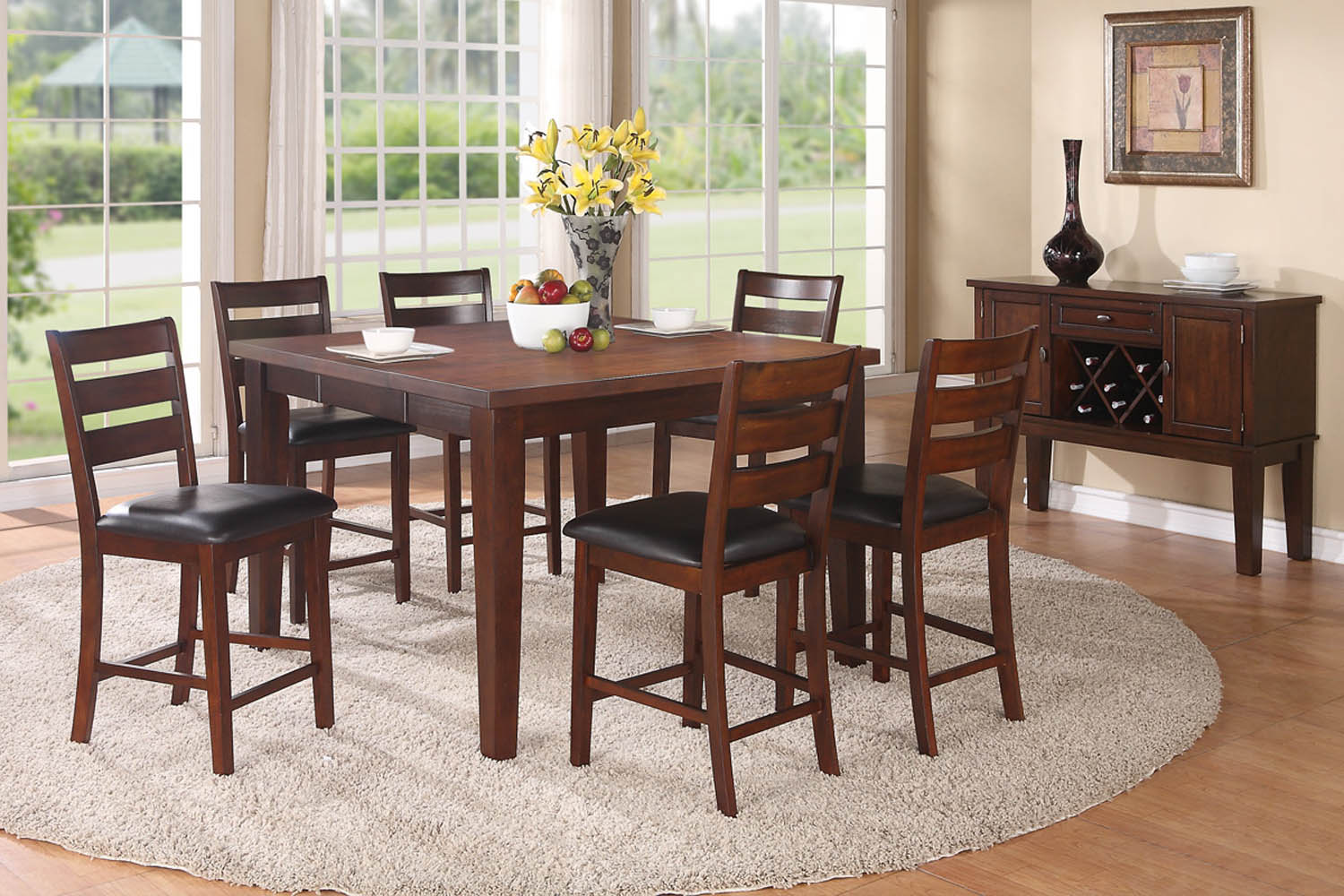 7 piece counter height dining room set for 7 piece dining room set counter height