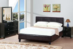 Queen Brown or Grey Platform Bed with Mattress