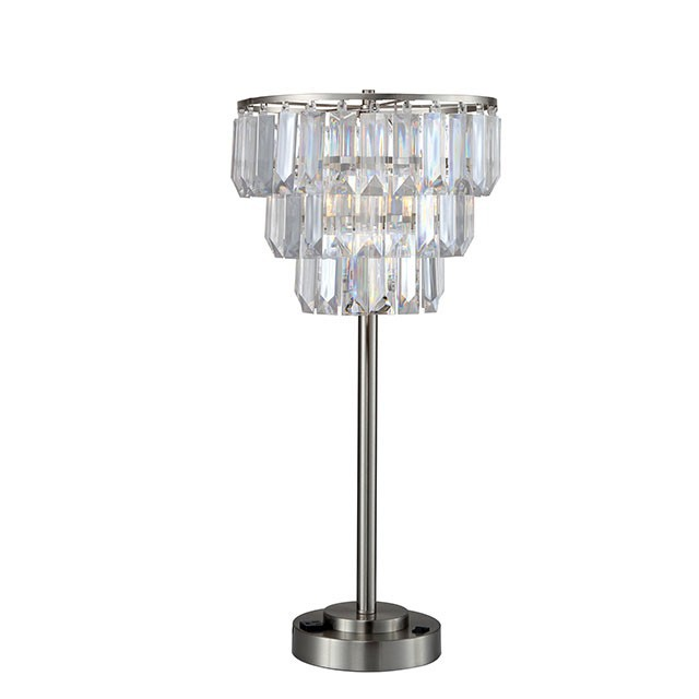 Hanging Table Lamp: Hanging Crystals Table Lamp