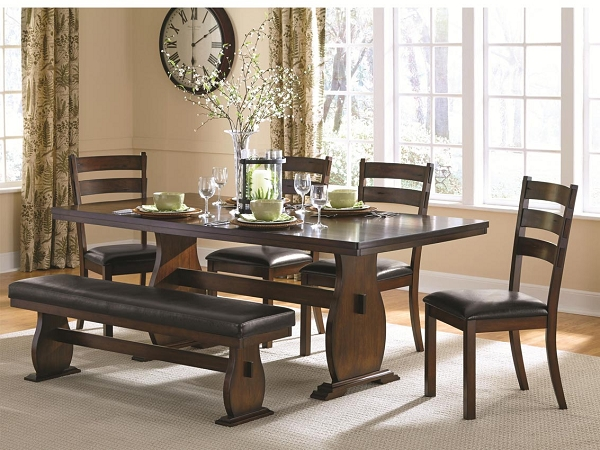 6 pcs Country Style Dining Table Set