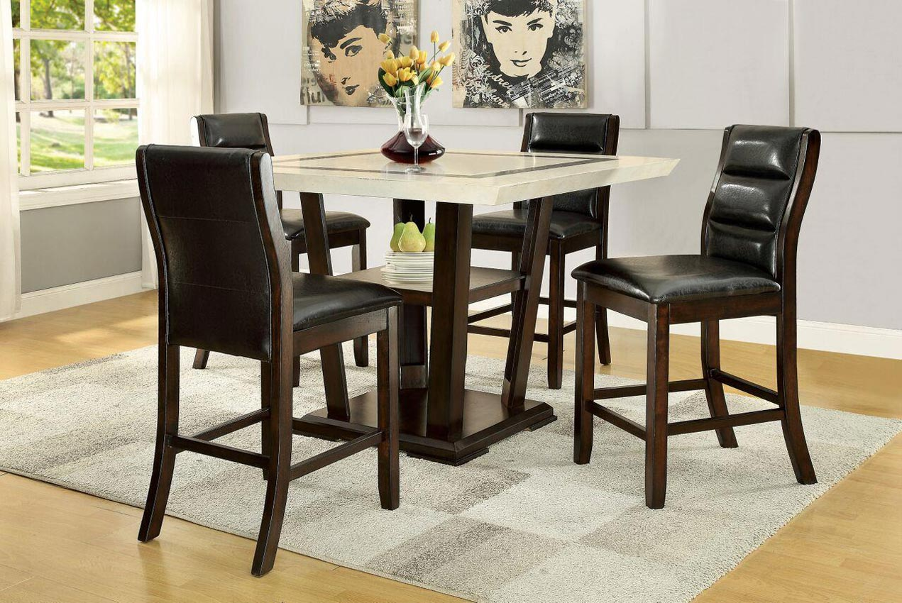 La be 5 Piece Pub Table Set with Counter Height Chairs