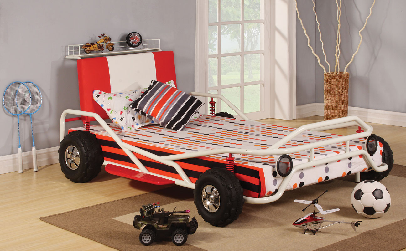 Go Kart Metal Twin Bed Frame : UMF37205T from www.easy2getfurniture.com size 1296 x 802 jpeg 247kB