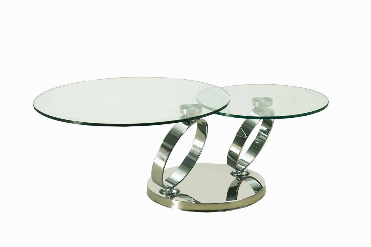 Round clear coffee table Clear coffee table