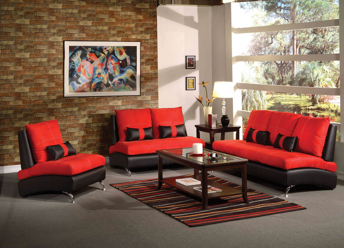 2 piece red suede sofa set for 2 piece living room furniture set