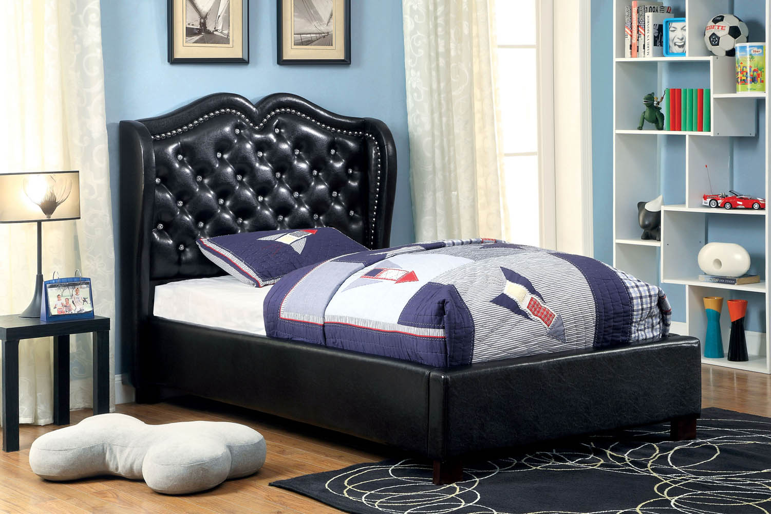 Monroe Black Twin Bed Frame