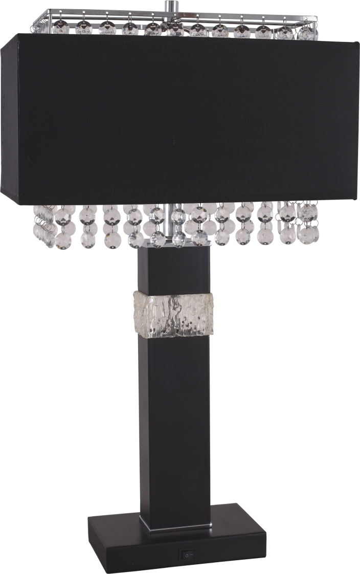 Contemporary Black Table Lamp