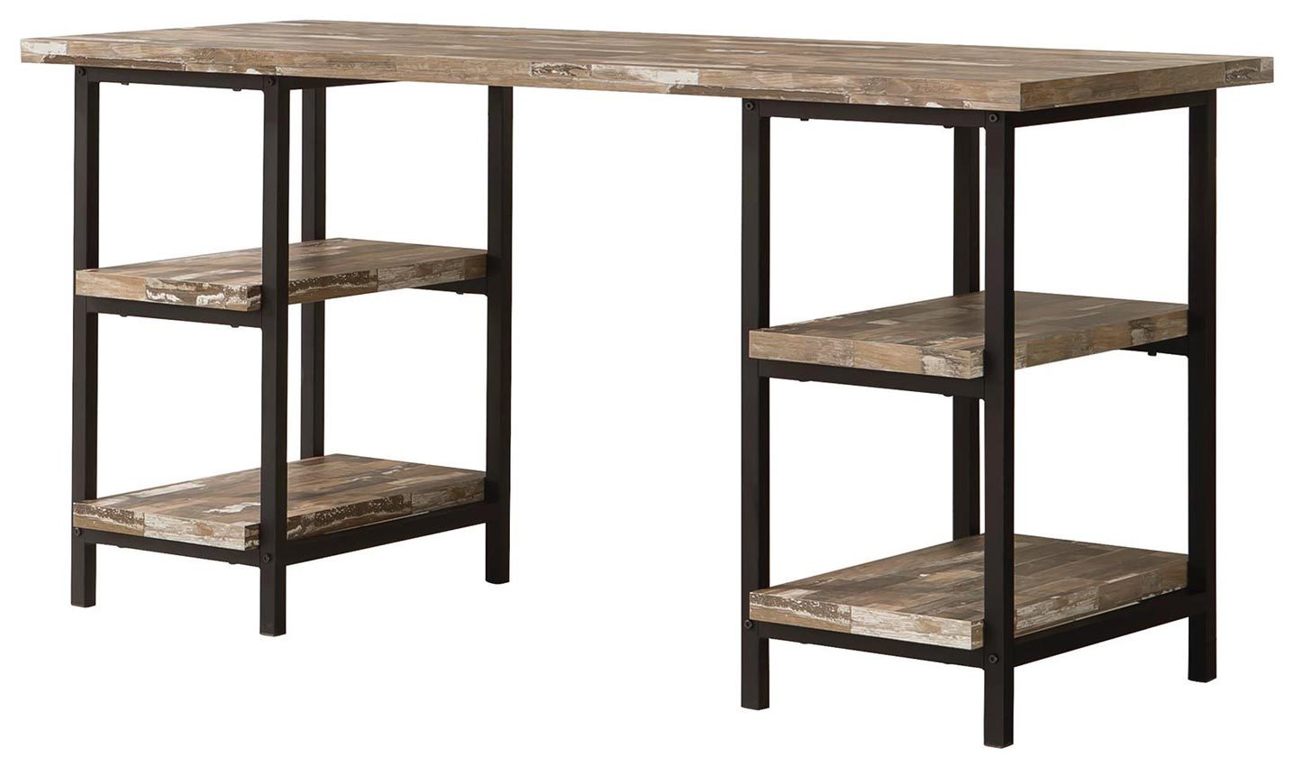 Skelton Modern Rustic Writing Desk With Metal Frame