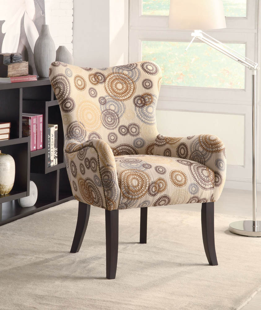 Swirl Pattern Accent Chair