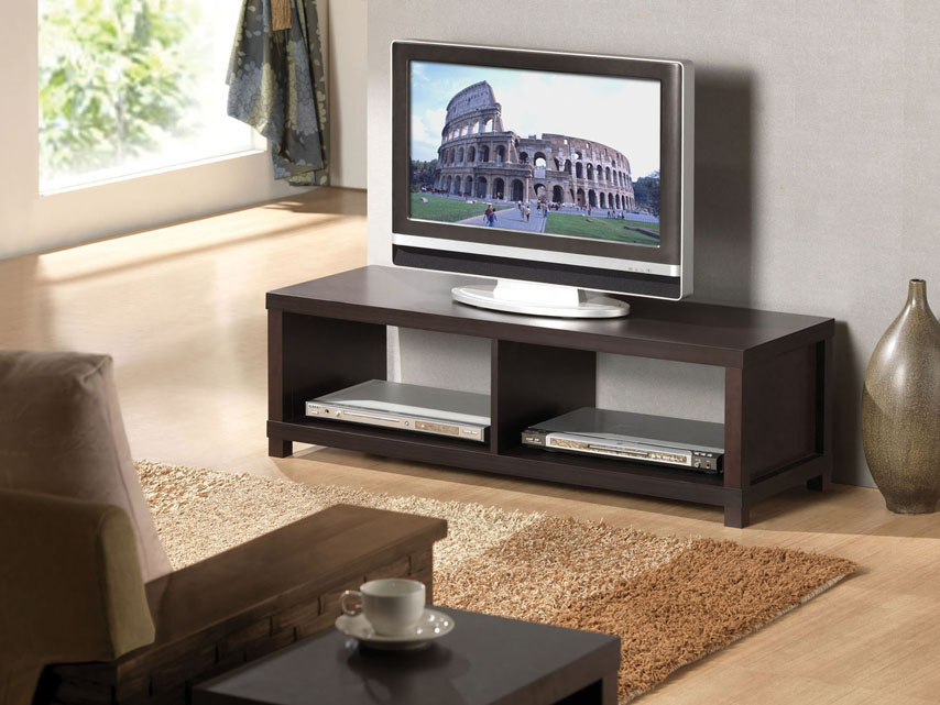 This Espresso Finish Tv Modula Fits Great In Any Living