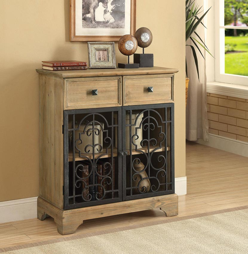 Accent Cabinets Accent Cabinet With Metal Doors