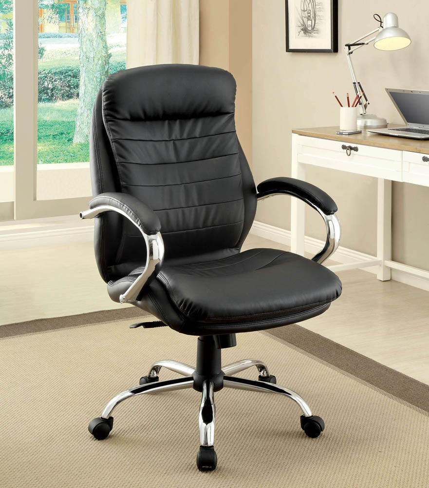 contemporary style faux leather office chair. Black Bedroom Furniture Sets. Home Design Ideas