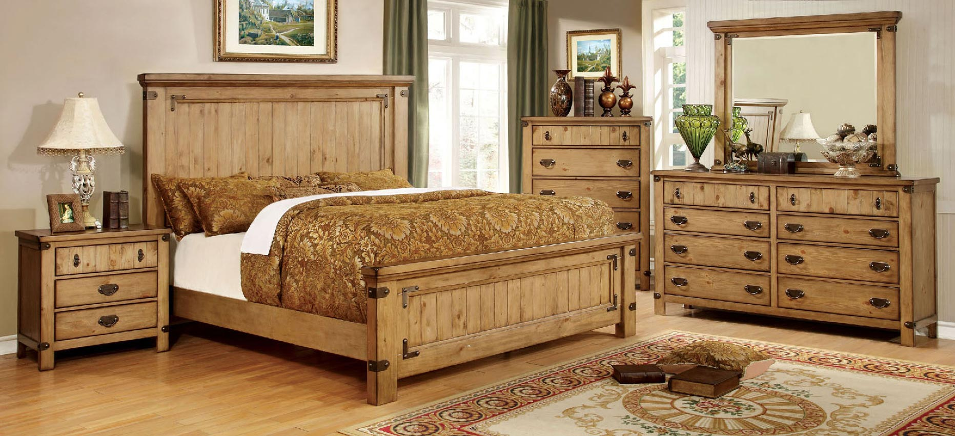 Old Fashion Queen Bed Frame