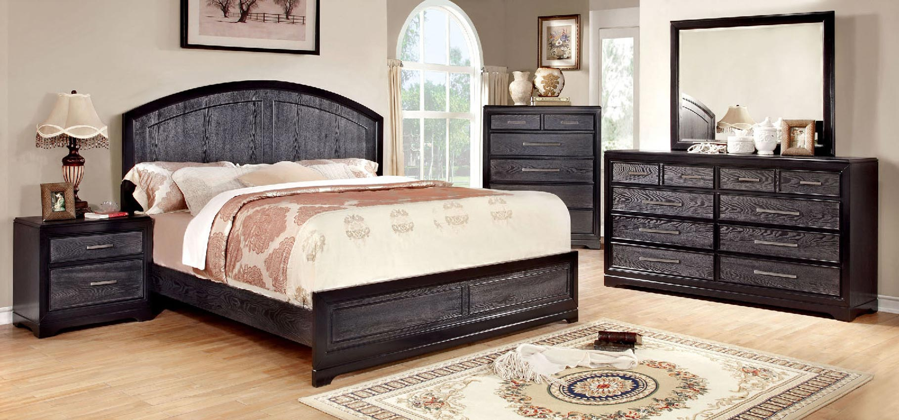 gray and black cal king bed frame. Black Bedroom Furniture Sets. Home Design Ideas
