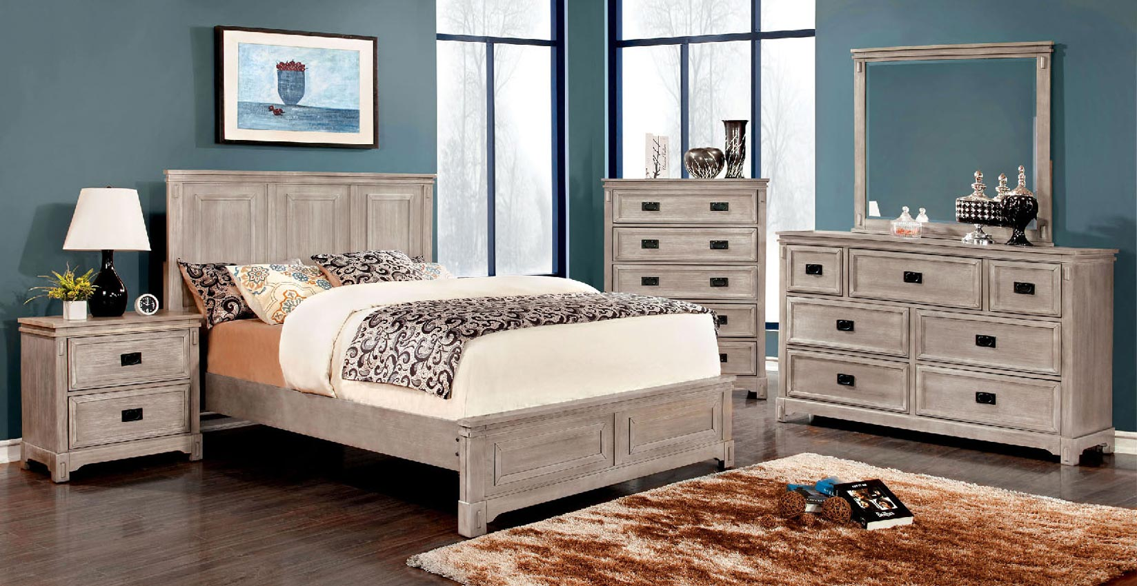 queen ash grey bed frame