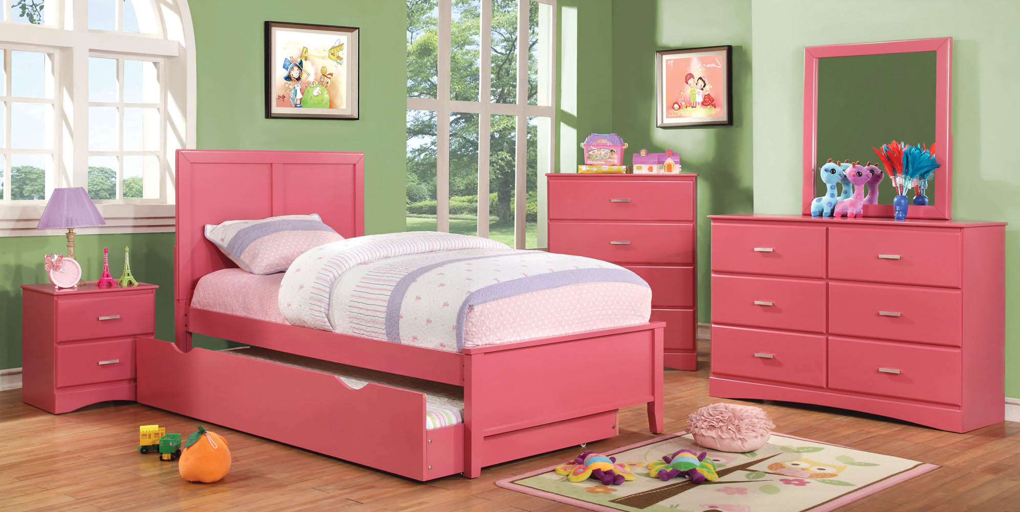 home bedroom pink bed frame