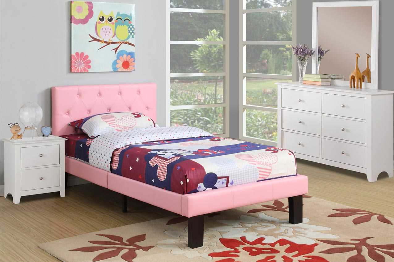 home bedroom pink leather bed frame