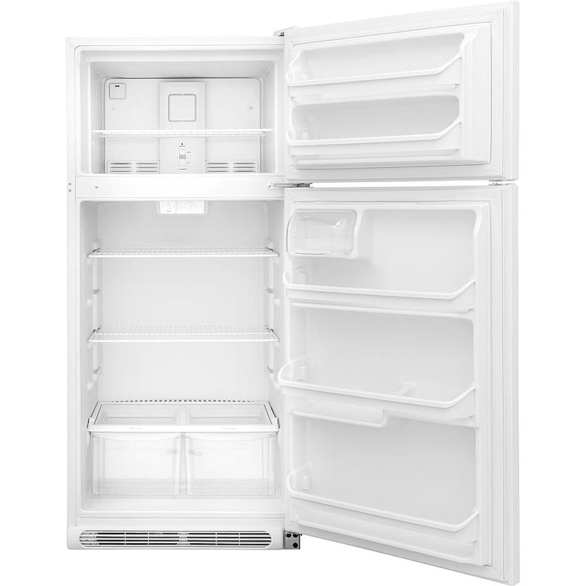 18 0 cu ft white top freezer refrigerator for Frigidaire armoire
