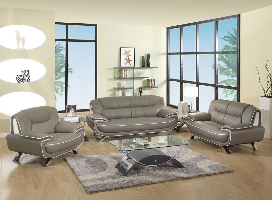 home living room 2 pcs grey living room set