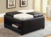 Black and White Ottoman