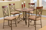 French Fashion with Metal Frame Dining Table and Chair Set