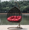 Wide Swing Chair with Red Pad
