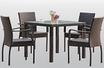 5 Piece Casual Style Outdoor Dining Set