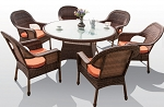 7 Piece Rounded Dining Set