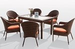 7 Piece Squared Dining Set