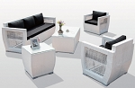 5 Piece Oceanside Sofa Set in White