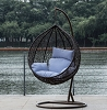 Round Swing Chair in Espresso