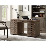 ACME Asheville Executive Desk - 92375 - Traditional - Wood (Recycled) - Weathered Natural