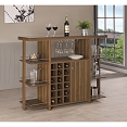 Bar Units and Bar Tables Modern Bar Unit with Wine Bottle Storage