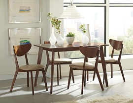 Kersey Retro Chestnut Dining Table Set