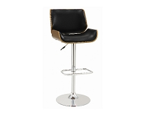 Upholstered Adjustable Bar Stool Ecru and Chrome
