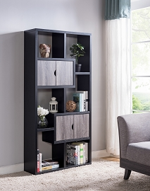 Black and Grey Two-tone Finish Book Shelf