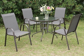 Outdoor Dining Set - 5 Pcs
