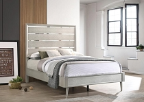 Ramon Panel Bed Metallic Sterling