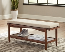 San Mateo 1-Shelf Bench Desert Teak