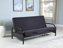 Black Metal Futon with 8