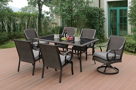 7-Pcs Outdoor Dining Table Set