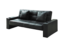 Spears Sofa Bed With Cup Holders In Armrests Black