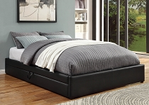 Hunter Transitional Black Upholstered Storage Bed-