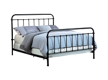 Livingston Queen Panel Metal Bed Dark Bronze